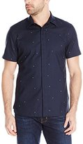 Perry Ellis Men's Exclusive Pin Dot On Oxford Fabric Shirt