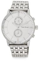 English Laundry Stainless Steel Link Bracelet Watch