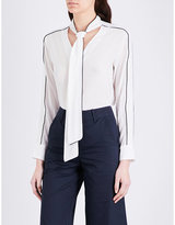 Mo&Co. Pussybow silk blouse