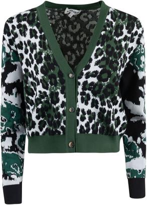 Kenzo Leopard Jacquard Cardigan