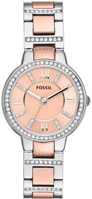 Fossil 'Virginia' Crystal Bezel Bracelet Watch, 30mm