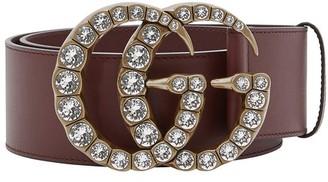Gucci Crystal GG belt