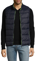 Armani Exchange Stand Collar Quilted Vest