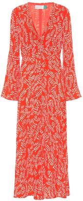 Rixo Sonja printed midi dress