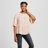 Mossimo Women's Soft Peplum Lace Top