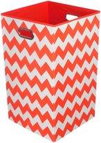 Modern Littles Bold Red Chevron Folding Laundry Basket