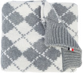 Thom Browne checked scarf