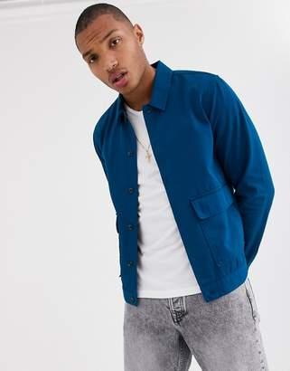 Topman double pocket shirt in blue