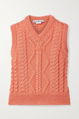 ACNE STUDIOS - Cable-knit Tank - Orange