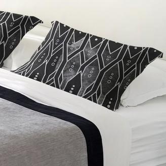East Urban Home Mcguigan Trellis Pattern Pillow Sham Size: King, Fabric: Polyester, Color: Black