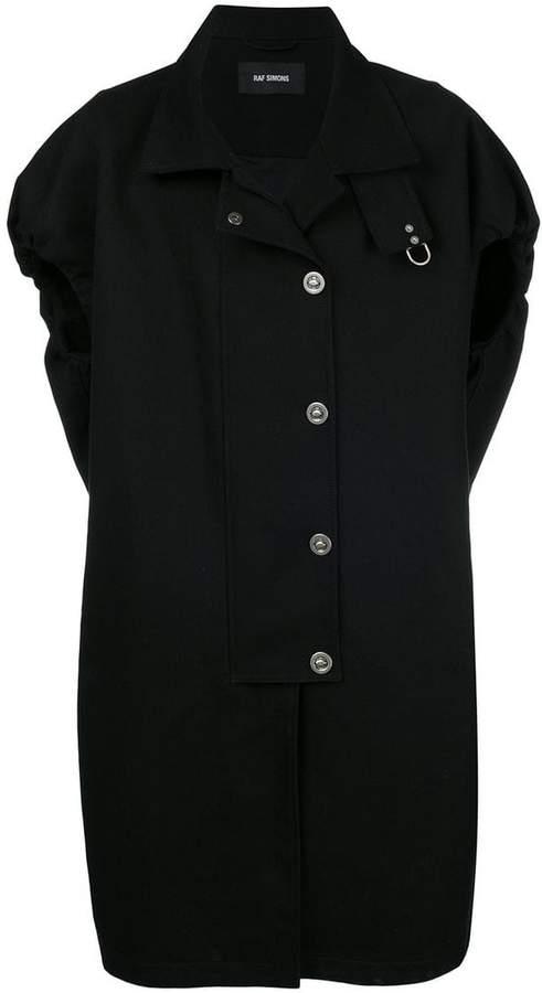 Raf Simons shortsleeved button coat