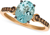 LeVian Le Vian Chocolatier® Sky Blue Topaz (2-1/10 ct. t.w.) & Diamond (1/6 ct. t.w.) Ring in 14k Rose Gold