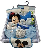 BASSKET.COM Complete Newborn Baby Boy Gift Set/ Basket, (0-6 Months), 29 Piece Bundle Filled Basket of Baby Gift Items, Perfect ideas for Birthdays, Easter, Christmas, Get Well, or Other Occasion!