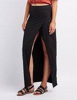 Charlotte Russe Wrap Slit Maxi Skirt