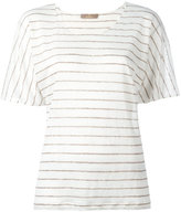Cruciani striped knitted top - women - Linen/Flax - 44