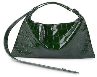 Simon Miller Puffin Croc-Embossed Leather Shoulder Bag