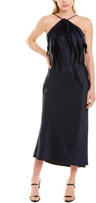 Jason Wu Collection Halter Silk-Trim Sheath Dress