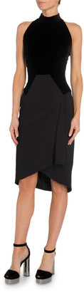 Tom Ford Velvet-Bodice Halter Dress