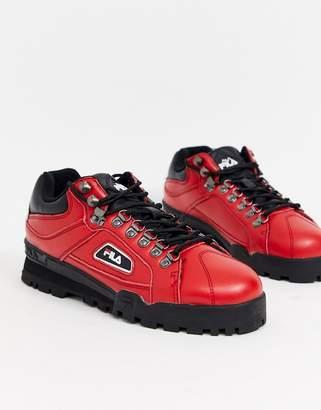 Fila trailblazer walking boots-Red