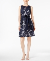 Jessica Howard Petite Floral-Lace Illusion Dress