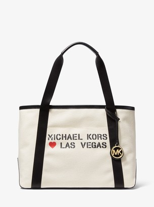 MICHAEL Michael Kors The Michael Large Canvas Las Vegas Tote Bag