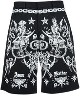 Givenchy Tattoo Print Bermuda Shorts