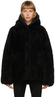 Yves Salomon Meteo Yves Salomon - Meteo Black Shearling Coat