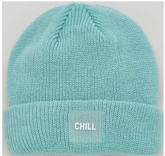 Very Slogan Knitted Beanie 'chill'