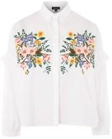 Topshop TALL Floral Print Shirt
