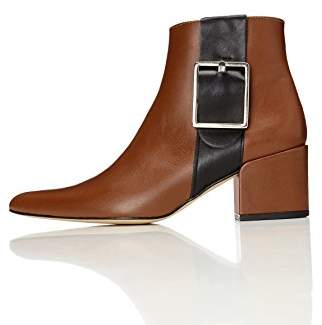 find. Women's Ankle Boots with Zips and Colour Block Straps, Brown (Tan)