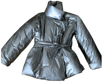 Norma Kamali Silver Coat for Women