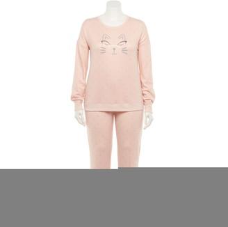 Lauren Conrad Plus Size Extra Soft Pajama Top & Pajama Pants Set