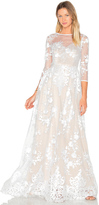 Lurelly Sheer Embroidered Gown