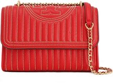 Tory Burch Fringe-trimmed Studded Quilted Leather Shoulder Bag
