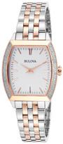 Bulova Women&s Diamond Gallery Bracelet Watch - 0.19 ctw