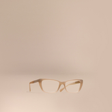 Burberry Check Detail Rectangular Optical Frames