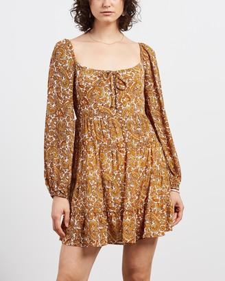 Faithfull The Brand Women's Brown Mini Dresses - Indira Mini Dress - Size XS at The Iconic