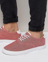 Asos Sneakers in Red Chambray