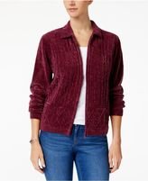 Alfred Dunner Chenille Cardigan