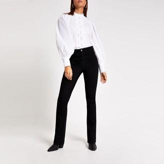 River Island Womens Black high rise bootcut jeans