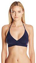 Vix Women's Solid Indigo Middle Loop Bikini Top