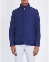 Canali Safari Leather-piped Jacket