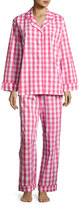 BedHead Gingham Classic Pajama Set, Hot Pink, Plus Size