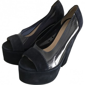 Carven Blue Leather Sandals