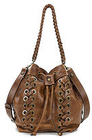 Patricia Nash Distressed Vintage Collection Martina Drawstring Cross-Body Bucket Bag