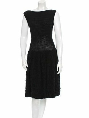 Alaia Fit and Flare Dress w/ Tags Black