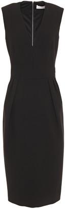 Victoria Beckham Pleated Crepe Dress
