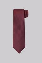 Moss Esq. Burgundy Taffeta Silk Tie