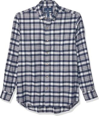 Buttoned Down Classic Fit Supima Cotton Plaid Flannel Sport Shirt Button