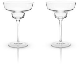Viski Raye Crystal Margarita Glasses